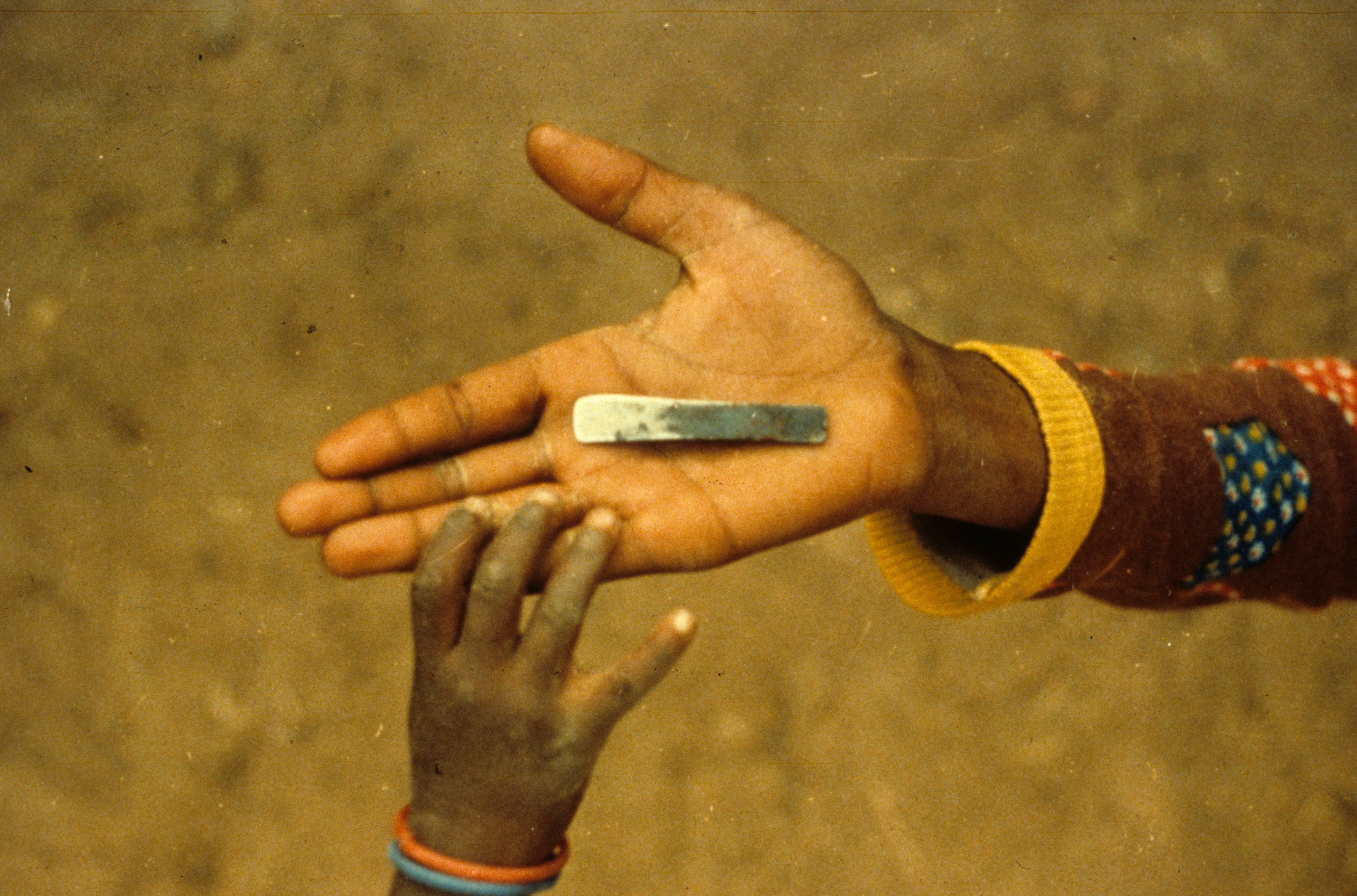 Mandatory Credit: Photo by Sipa Press/REX/Shutterstock (300657e) Blade used in the operation, Upper Volta - 1984 Hawa Greou From Mali On Trial for female Circumcision, Paris, France - Feb 1999