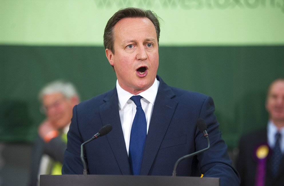 David Cameron's home constituency of Oxfordshire will receive £9m (Picture: AFP/Getty Images)