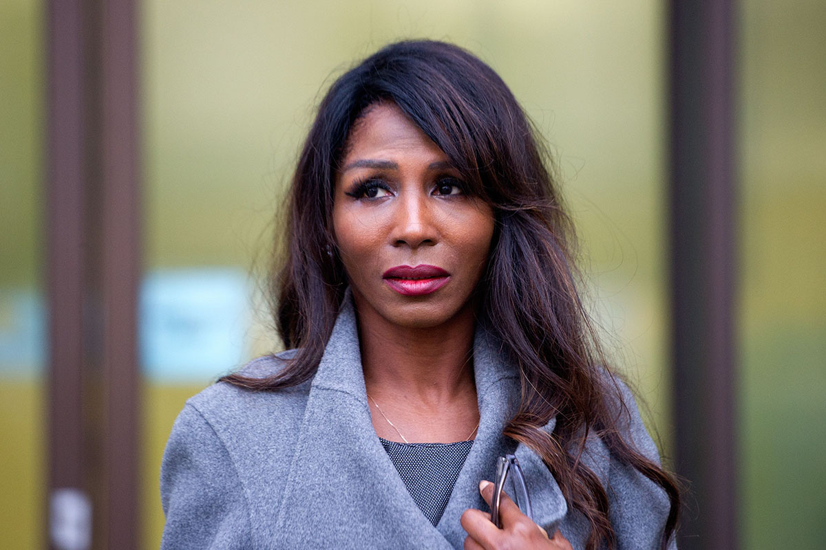 """Sinitta Malone - Dawn Ward assault case, Westminster Magistrates Court, London, Britain - 04 Feb 2016 Sinitta Malone, aka 1980s popstar """"Sinitta"""" leaves Westminster Magistrates Court today where multi-millionaire reality TV star Dawn Ward, 42, wife of former professional footballer Ashley Ward, 48, is accused of assaulting her at Salmontini le Resto, an Italian restaurant in Mayfair"""