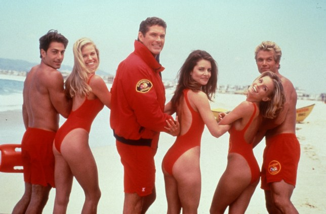 EDITORIAL USE ONLY / NO MERCHANDISING Mandatory Credit: Photo by FremantleMedia Ltd/REX/Shutterstock (834546fo) 'Baywatch' - David Hasselhoff and cast Fremantle Archive