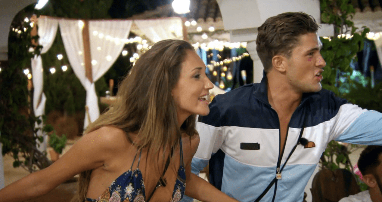 Ex On The Beach S4E4 Megan McKenna and Scotty T row (Picture: MTV)