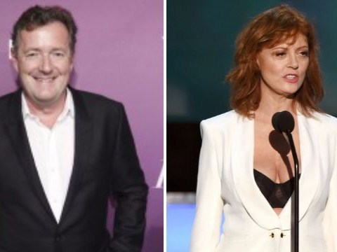 Women are sending Piers Morgan photos of their cleavage in support of Susan Sarandon