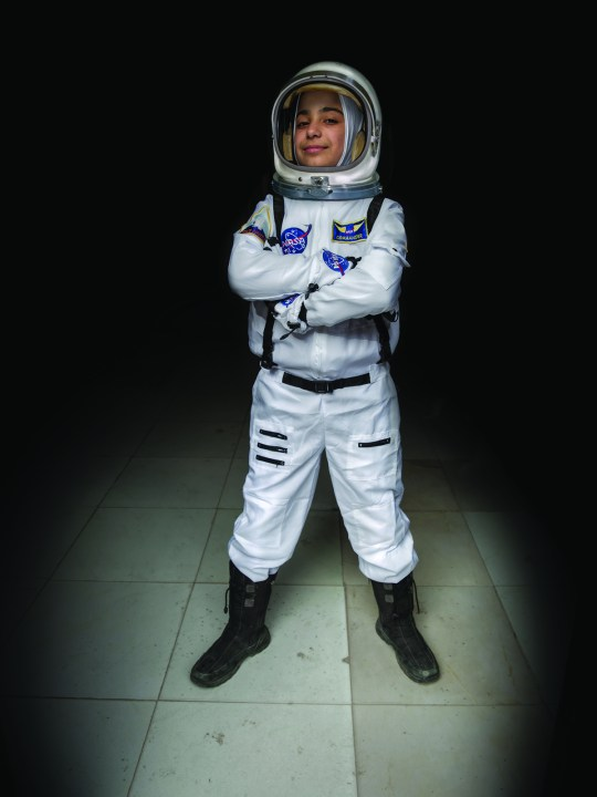 Haja dreams of becoming an astronaut (Picture: IRC)