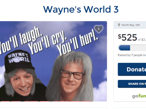 This guy has started a GoFundMe page to get someone to read his Wayne's World 3 script