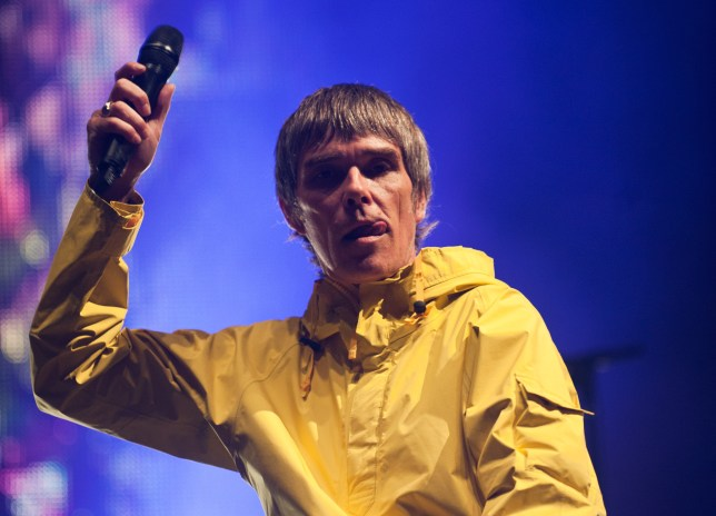 New music? The Stone Roses - fronted by Ian Brown, seen here on stage at the Isle of Wight Festival 2013 - are reportedly working on a third album (Picture: Rob Harrison/Getty Images)