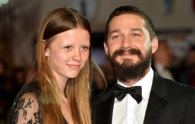 Engaged? Mia Goth and Shia LeBeouf have had an on-off relationship since 2012 (Picture: Anthony Harvey/Getty Images for BFI)