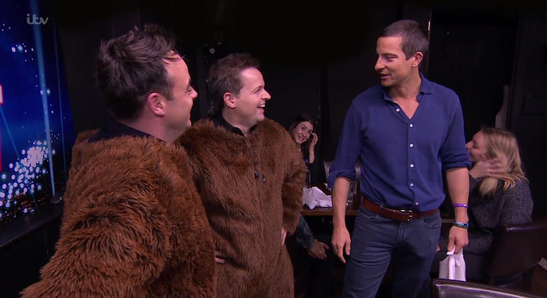 Viewers stunned by Bear Grylls' huge crotch bulge on Saturday Night Takeaway