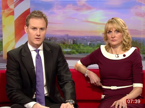 Sexism row over male presenters sitting on left side of the TV sofa