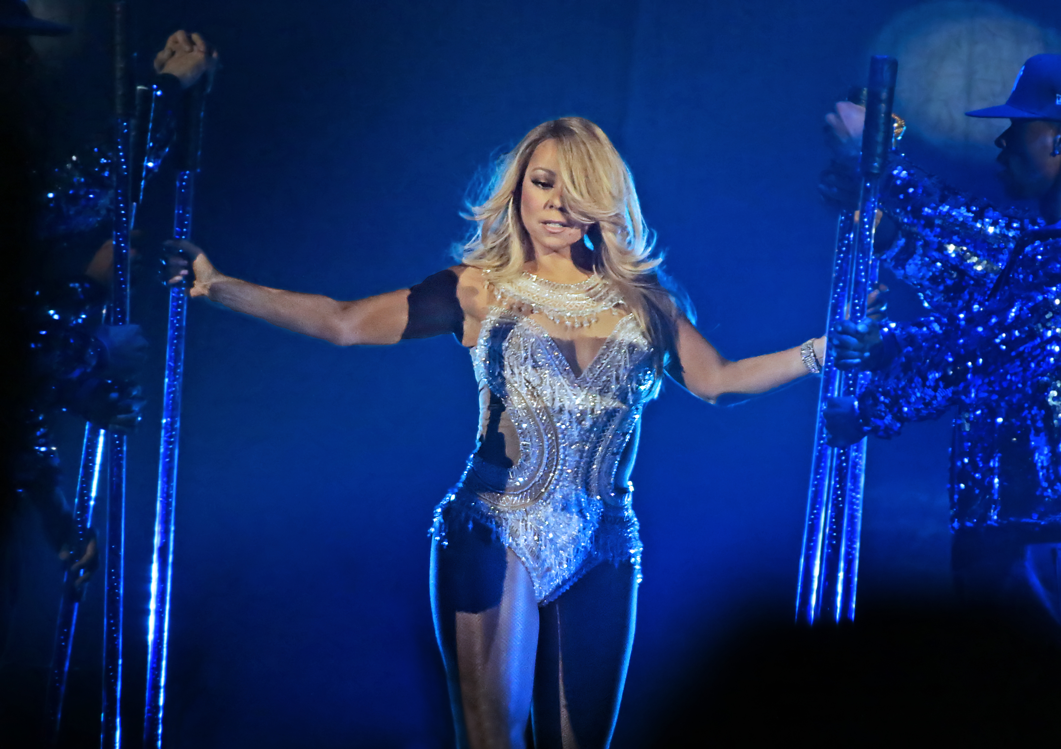 Mariah Carey Performing on Her 'Sweet Sweet Fantasy Tour' at Manchester Arena Featuring: Mariah Carey Where: Manchester, United Kingdom When: 18 Mar 2016 Credit: Sakura/WENN.com