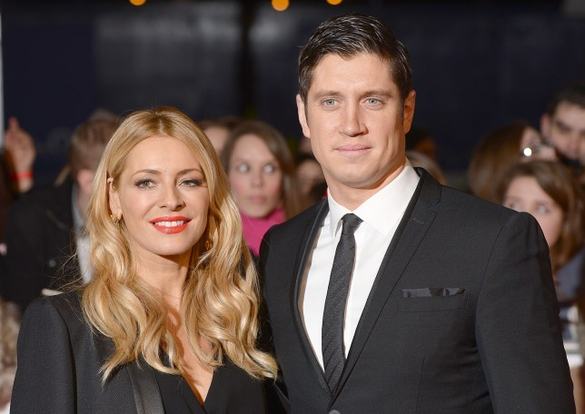 File photo dated 22/1/2014 of Tess Daly and Vernon Kay as the TV presenter has denied acting inappropriately by contacting a glamour model he 'sexted' six years ago. PRESS ASSOCIATION Photo. Issue date: Wednesday March 30, 2016. According to The Sun newspaper, Kay is said to have sent multiple messages to Rhian Sugden over the last few months with the intent of meeting up with the 29-year-old. However, he maintained that his wife, Strictly Come Dancing presenter Tess Daly, with whom he has two daughters, was aware of their communication. See PA story SHOWBIZ Kay. Photo credit should read: Dominic Lipinski/PA Wire