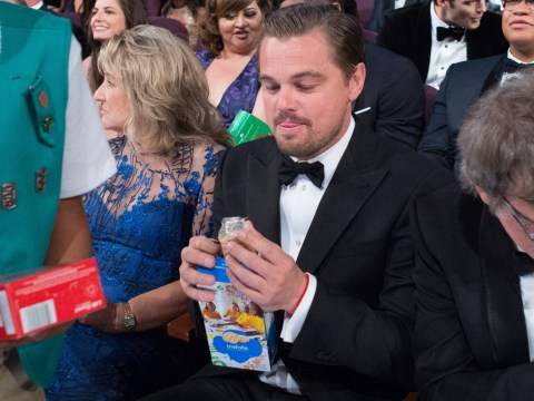 The internet has had its way with the pic of Leonardo DiCaprio and a box of Girl Scout biscuits