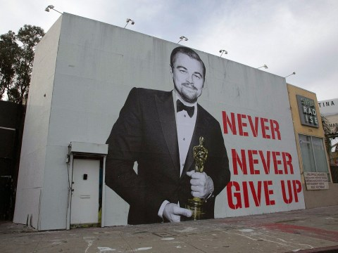 Leonardo DiCaprio street art reminds us to 'never give up'