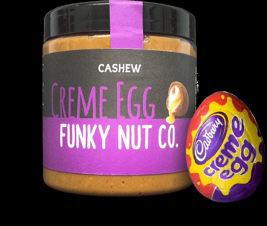 Creme egg butter Credit: Funky Nut Co.