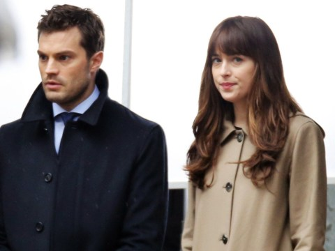 First look Fifty Shades Darker: Jamie Dornan and Dakota Johnson spotted looking grim-faced on set
