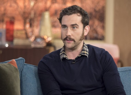 EDITORIAL USE ONLY. NO MERCHANDISING Mandatory Credit: Photo by Ken McKay/ITV/REX/Shutterstock (5611208bc) Matthew Lewis 'This Morning' TV show, London, Britain - 07 Mar 2016 Matthew Lewis is here to tell us about his dark character Sean Balmforth in the crime drama, growing 19th century sideburns and being part of the Harry Potter dynasty.