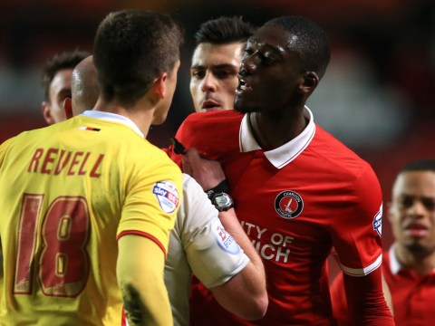 Arsenal's Yaya Sanogo called 'disgusting' after red card for elbow during Charlton game