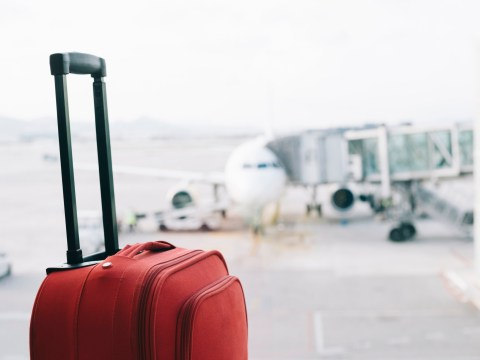 A woman tried to hide a baby in her hand luggage