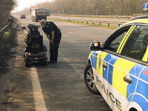 Pensioner on mobility scooter takes wrong turn and ends up on dual carriageway