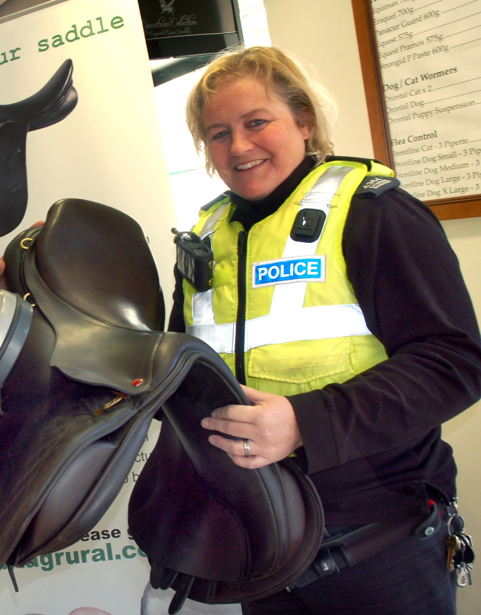 PC Sharon Roscoe. A female police officer has resigned from her role investigating animal abuse - after it emerged she regularly goes FOX HUNTING. See NTI story NTICOP. Pc Sharon Roscoe, 46, was a wildlife officer for Leicestershire Police - probing allegations of illegal fox hunting, trapping animals, game poaching and badger baiting. But she faced an angry backlash after it was discovered she was also a keen member of the Duke of Rutland's Belvoir Hunt in Lincolnshire. The Hunt Saboteurs Association launched a petition calling for her to be removed from the post, which gained signatures from over 6,000 people.