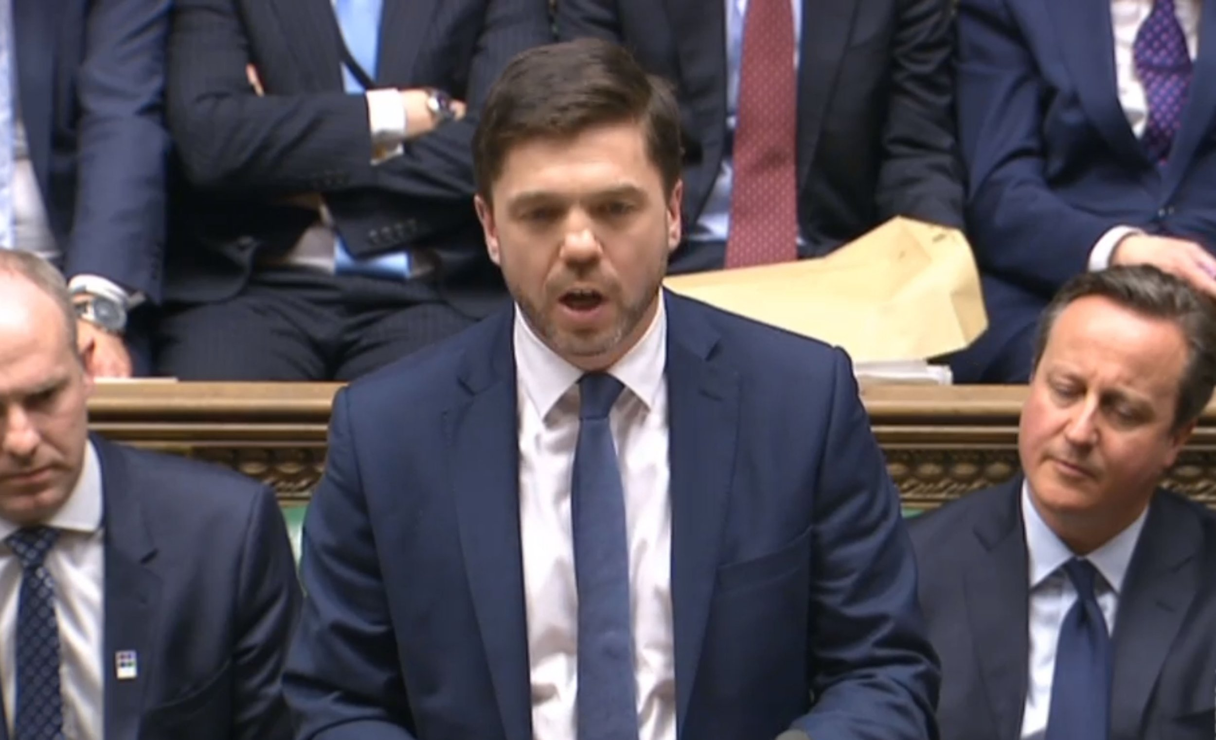 The new Secretary of State for Work and Pensions Stephen Crabb speaking in the House of Commons in London. PRESS ASSOCIATION Photo. Picture date: Monday March 21, 2016. See PA story POLITICS Disabled. Photo credit should read: PA Wire