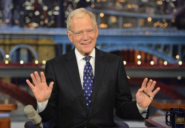NEW YORK - MAY 20: David Letterman hosts his final broadcast of the Late Show with David Letterman, Wednesday May 20, 2015 on the CBS Television Network. After 33 years in late night television, 6,028 broadcasts, nearly 20,000 total guest appearances, 16 Emmy Awards and more than 4,600 career Top Ten Lists, David Letterman says goodbye to late night television audiences. The show was taped Wednesday at the Ed Sullivan Theater in New York. (Photo by John Paul Filo/CBS via Getty Images)