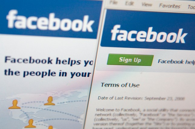UNITED STATES - FEBRUARY 18: The Facebook terms of use are displayed on a computer monitor in New York, U.S., on Wednesday, Feb. 18, 2009. Facebook Inc., owner of the world's largest social-networking site, backed down from revisions made to its online service following complaints that the changes may hurt users' privacy. (Photo by Andrew Harrer/Bloomberg via Getty Images)