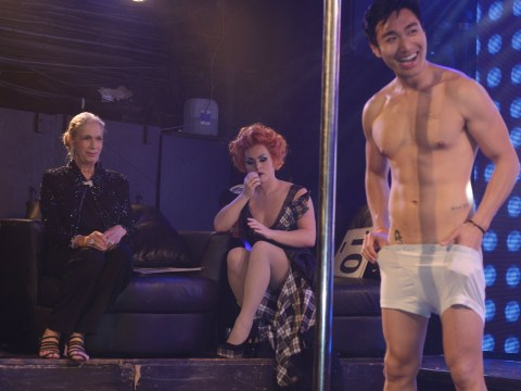 Lady Colin Campbell judged G-A-Y's porn idol and it looks like she enjoyed it