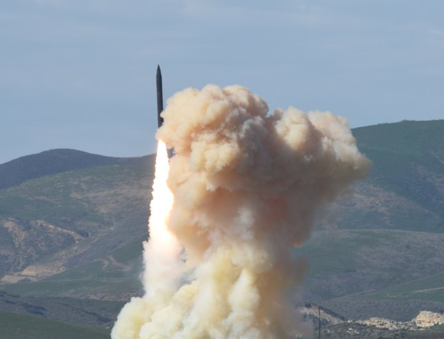 This photo provided by the Defense Department's Missile Defense Agency, taken Jan. 28, 2016, shows a long-range ground-based interceptor is launched from Vandenberg Air Force Base, Calif. As North Korea rattles its nuclear saber and threatens to bomb the U.S. at ìany moment,î a nerve-jangling question hangs in the air: If North Korea did launch a nuclear-armed missile at an American city, could the Pentagonís missile defenses shoot it down beyond U.S. shores? (Defense Department's Missile Defense Agency via AP)