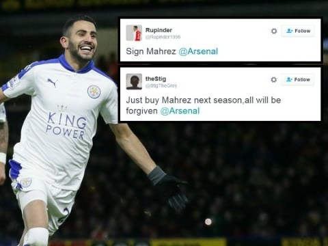 Arsenal fans call for Arsene Wenger to sign up Leicester City's Riyad Mahrez