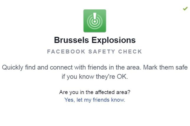 Brussels facebook safety check