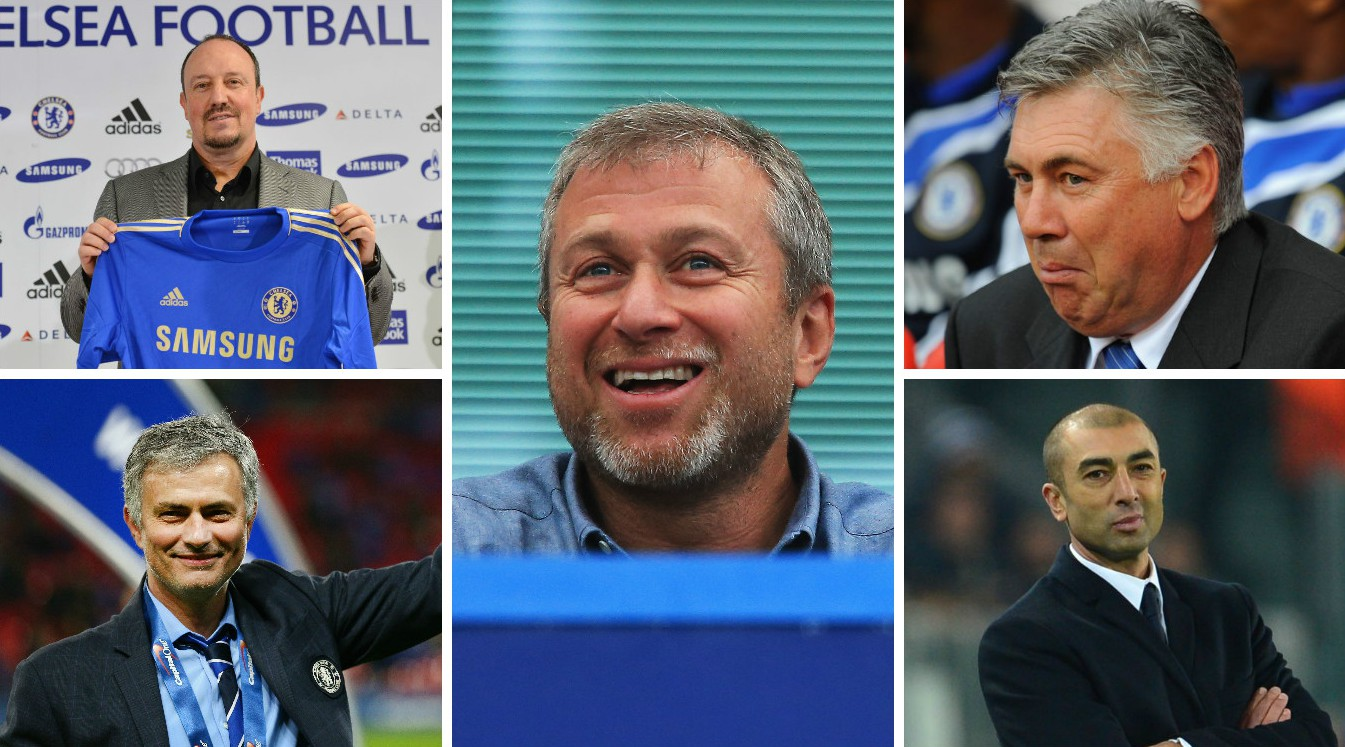 Quiz: How well do you know Chelsea's managers under Roman Abramovich, including Jose Mourinho, Carlo Ancelotti and Rafa Benitez?