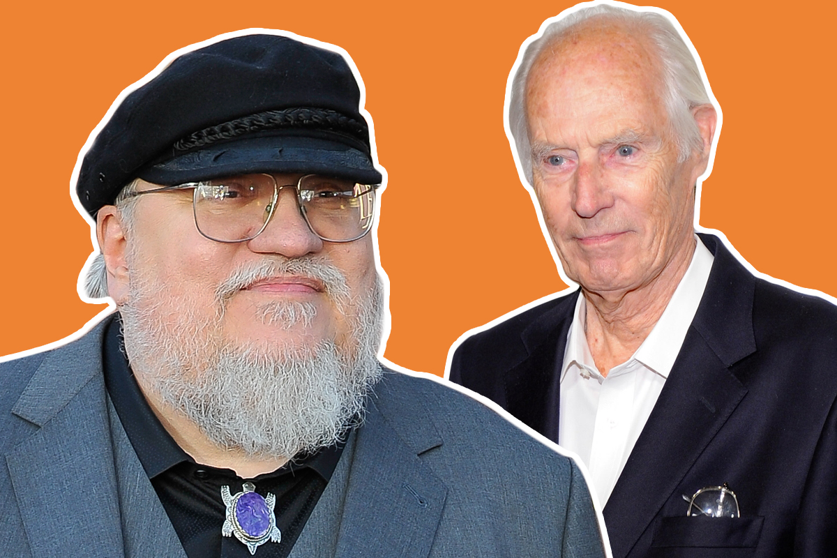 Mix up: George RR Martin (left) has assured fans he is alive following the death of 'Fifth Beatle' George Martin (Picture: Getty)