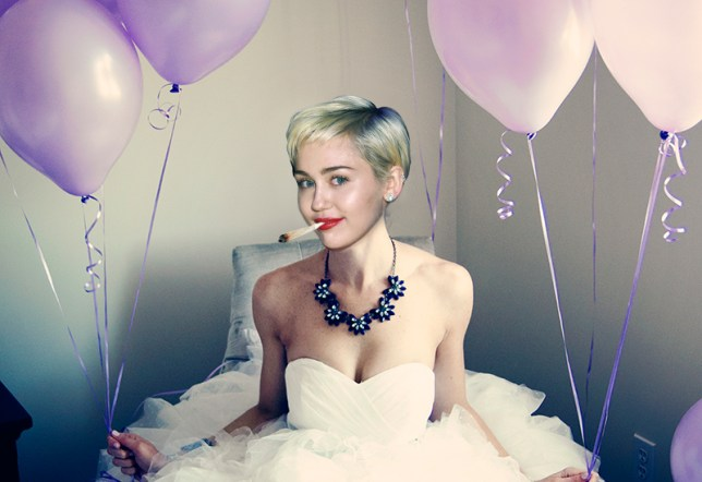 """Miley Cyrus wants """"everyone to get high"""" at her wedding. Getty"""