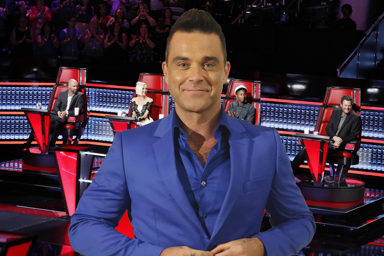 Robbie Williams The Voice coach