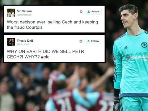 Chelsea fans want Petr Cech back from Arsenal after Thibaut Courtois' recent poor form