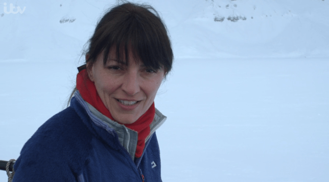 Natural talent: Davina McCall got excited seeing polar bears (Picture: ITV)