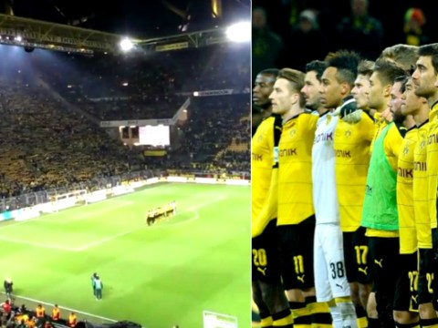 Borussia Dortmund fans sing 'You'll Never Walk Alone' in tribute after supporter dies during match