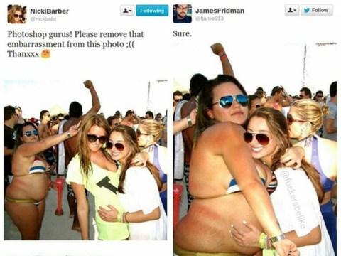This graphic designer has been brilliantly trolling vain people's selfies
