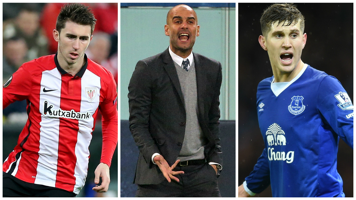 Manchester City eye John Stones and Aymeric Laporte in combined £80million summer transfer
