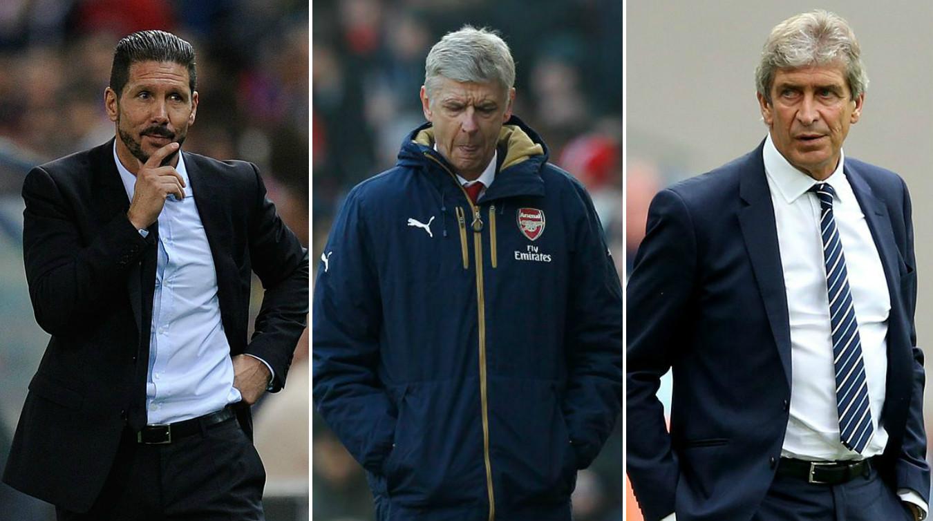 Rumour: Arsenal want Diego Simeone or Manuel Pellegrini to replace Arsene Wenger