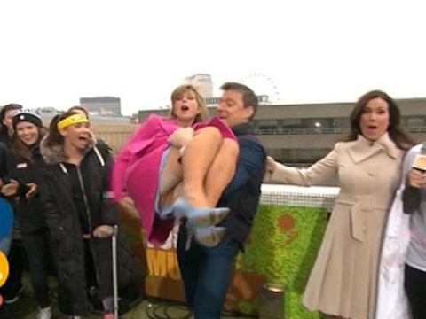 Good Morning Britain viewers stunned as Kate Garraway flashes her gusset