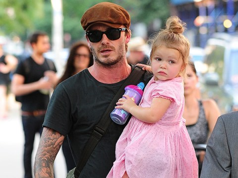 David Beckham shares the cutest snap of his little footie prodigee Harper