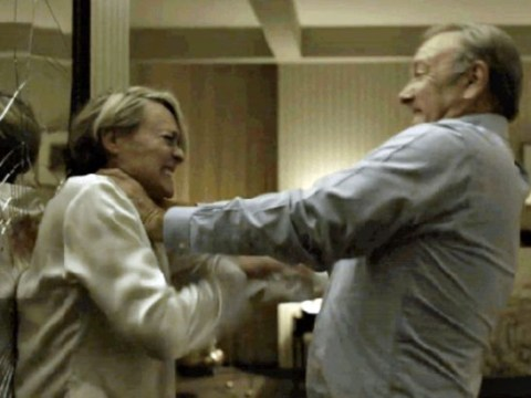 SPOILER! Viewers react to vicious House Of Cards husband and wife fight in opening moments of new series