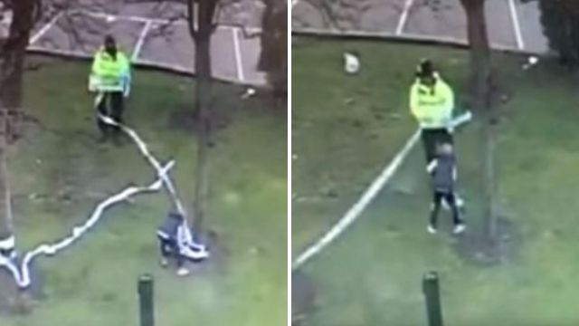 Police want to track down boy who helped them clean up after football match