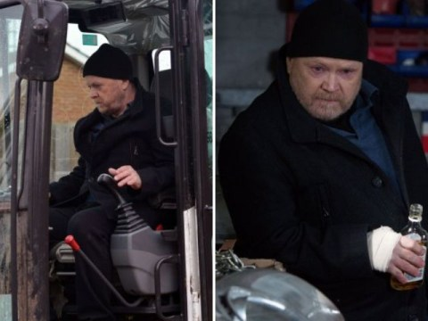 EastEnders spoilers: Phil Mitchell destroys Albert Square in a digger – but who is trapped inside the car lot?