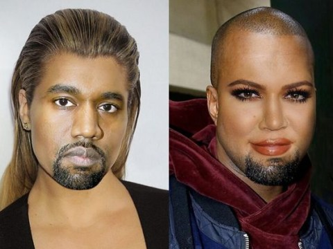 Khloe Kardashian face swapped with Kanye and it's a real stunner