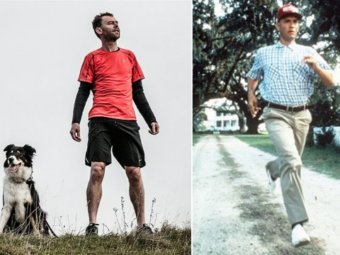 A UK runner is trying to replicate Forrest Gump exactly with a three-year run across the US