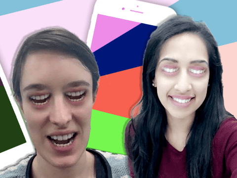 Snapchat's new 'mouth for eyes' filter is incredibly disturbing