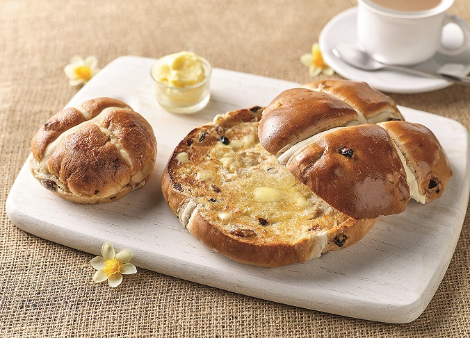 Who wants a giant hot cross bun this Easter?