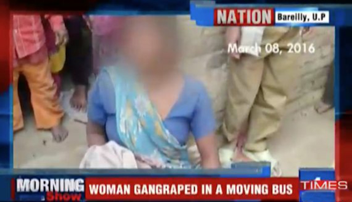 Indian Woman Gang Raped And Her Baby Killed On Bus In Uttar Pradesh Credit: Times Of India